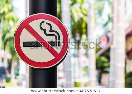 quit smoking message on a white background stock photo © wavebreak_media