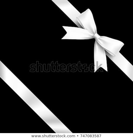 Stockfoto: Witte · satijn · boeg · mode · ontwerp · weefsel