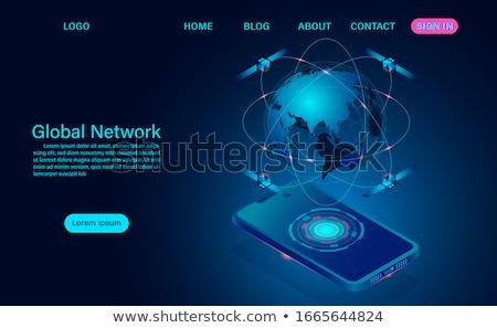 Satellite orbiting Earth Stock photo © bluering