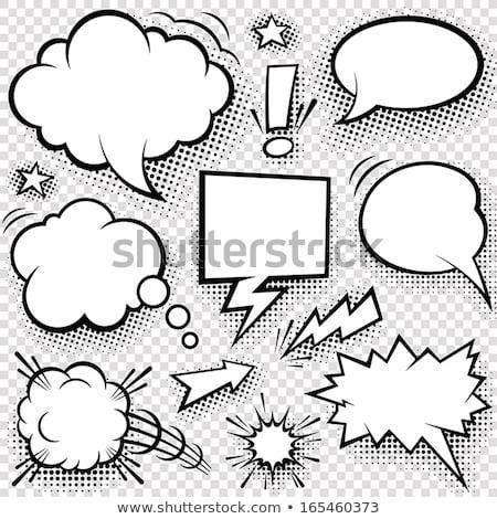 Heart shaped speech bubbles set. Stock photo © pakete
