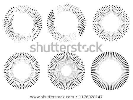 Negro círculo pimienta grafito pólvora blanco Foto stock © m_pavlov