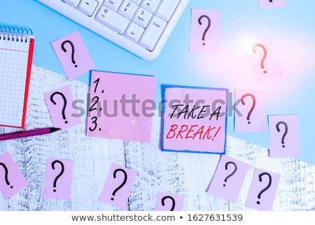 quit word and office tools on wooden table stock photo © fuzzbones0