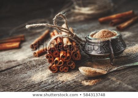 Tarçın halat siyah tablo pişirmek Stok fotoğraf © asturianu