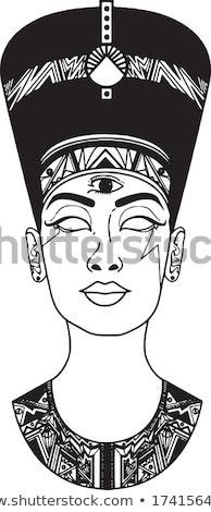 Egyptische godin portret meisje afbeelding aquarel Stockfoto © ConceptCafe