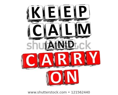 Puzzle with word Keep calm Stock photo © fuzzbones0