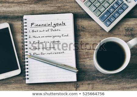 hand · calculator · notepad · voorraad · foto · geld - stockfoto © fuzzbones0