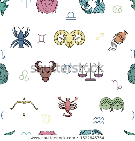 colorful zodiac star signs stock photo © cidepix