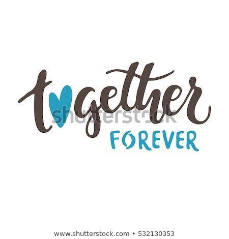 Para sempre juntos casal de mãos dadas caminhada Foto stock © MilanMarkovic78