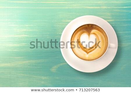 зеленый Кубок кофе иллюстрация белый лист Сток-фото © bluering