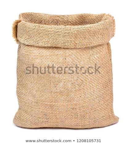 üres tele zsák barna textil táska Stock fotó © MaryValery