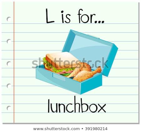 Alfabeto lunchbox illustrazione ragazzi bambino sfondo Foto d'archivio © bluering