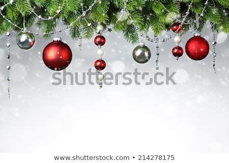 Brightly colored border of Christmas ornaments Stock photo © ozgur