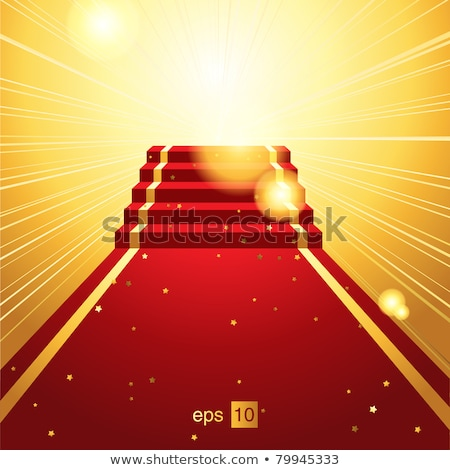 Podium with red carpet. EPS 10 Stock photo © beholdereye