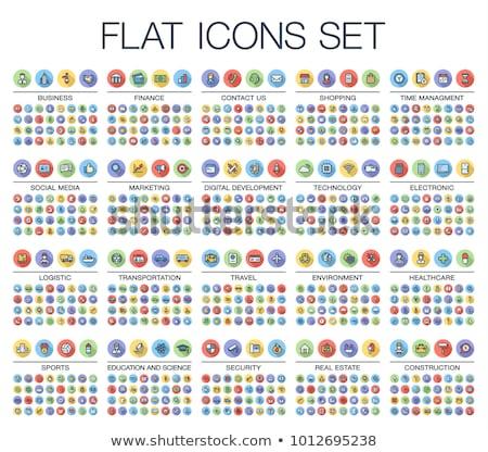 színes · ikon · szett · 25 · ikonok · weboldalak · online - stock fotó © panaceadoll