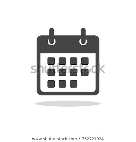 Icona calendario ufficio compleanno web blu Foto d'archivio © Oakozhan