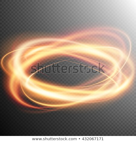 Glowing fire ring trace effect. EPS 10 Stock photo © beholdereye