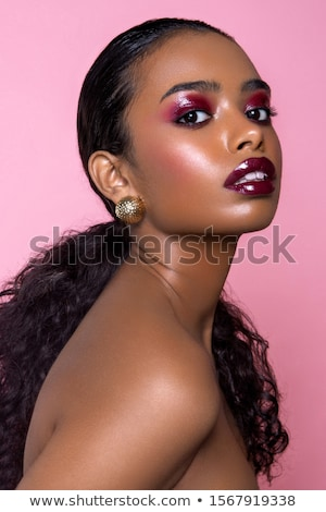 美しい · 夢のような · アフリカ系アメリカ人 · 女性 · 立って · 頭 - ストックフォト © deandrobot