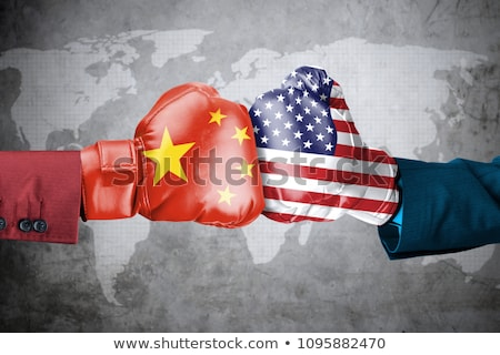 A boxing match between the USA and China Stock photo © Zerbor