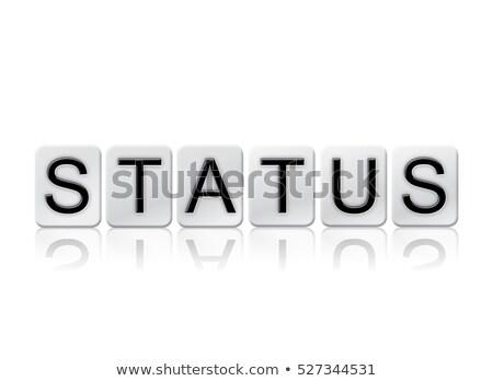 Estado isolado azulejos cartas palavra escrito Foto stock © enterlinedesign