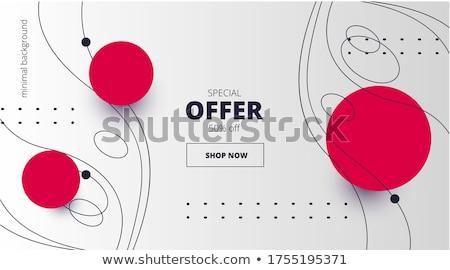 овальный красный баннер черный текстуры кадр Сток-фото © blackmoon979