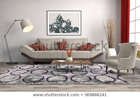 Yellow - Brown Sofa Stock photo © robuart