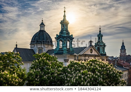 krakow old town at twilight stock photo © joyr
