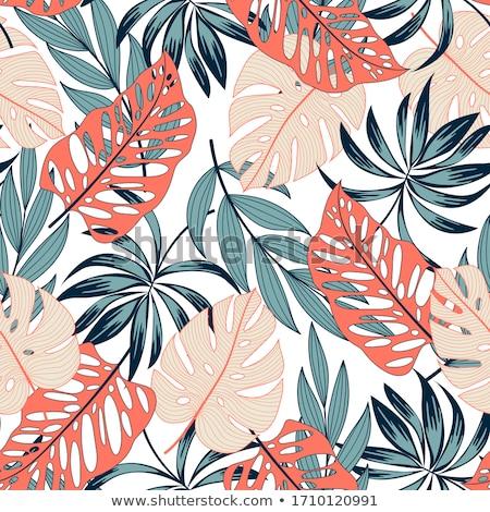 Groene bloempatroon textuur achtergrond weefsel patroon Stockfoto © SArts