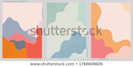 abstract geometric vertical lines background in three colors Stock photo © SArts