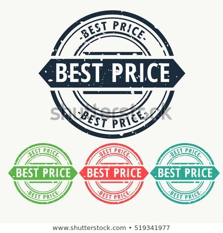 Mejor precio signo establecer negocios sello Foto stock © SArts
