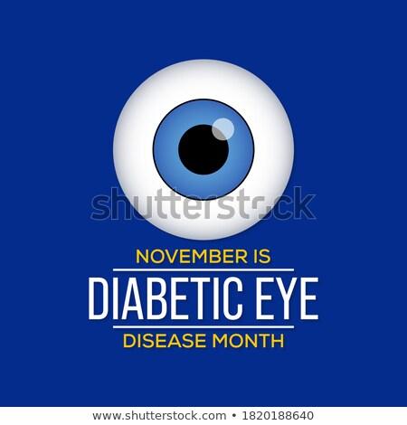 Cukorbeteg szem szürkehályog zöldhályog fenék vonal Stock fotó © Tefi