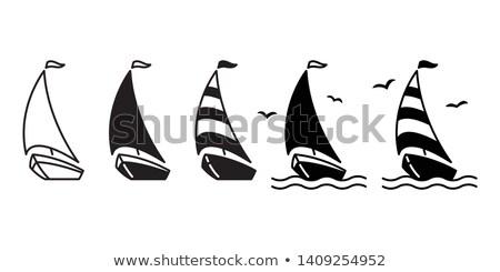 karikatür · yelkencilik · yat · gökyüzü · spor · deniz - stok fotoğraf © Vertyr