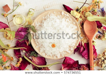 Stock photo: bath salt and oil
