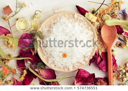 碗 · 鹽 · 小 · 木 · 表 - 商業照片 © joannawnuk