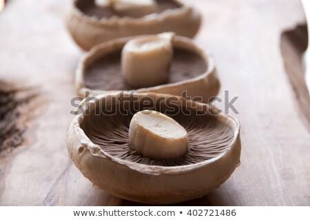 три · таблице · грибы · свежие · продовольствие - Сток-фото © Digifoodstock