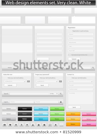 Ciemne czarny login formularza użytkownik interfejs Zdjęcia stock © SArts