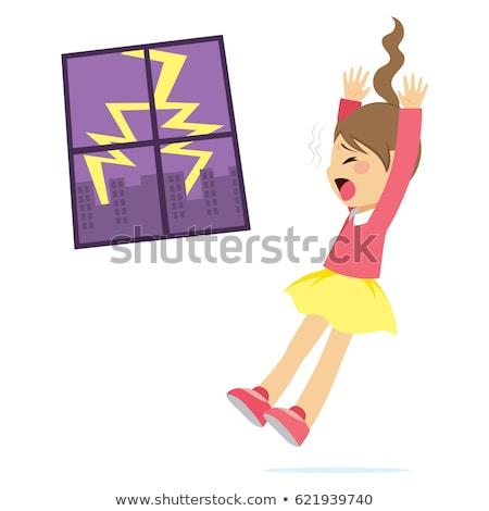 少女 怖い 雷 かわいい ビッグ ストックフォト © Kakigori