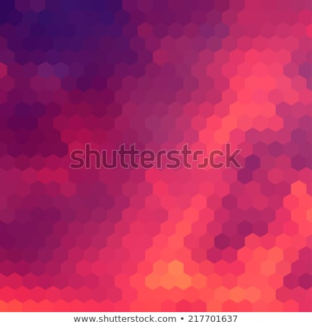 Sundown themed background with hex grid stock photo © SwillSkill