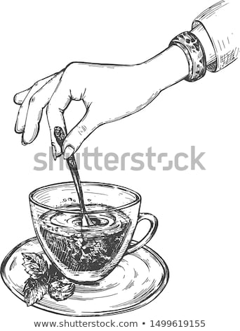 Teatime manners. Stock photo © Fisher