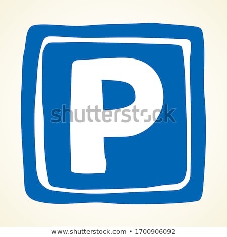 doodle parking garage and car icon stock photo © pakete