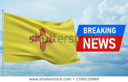 New Mexico Flag TV Stock photo © Bigalbaloo