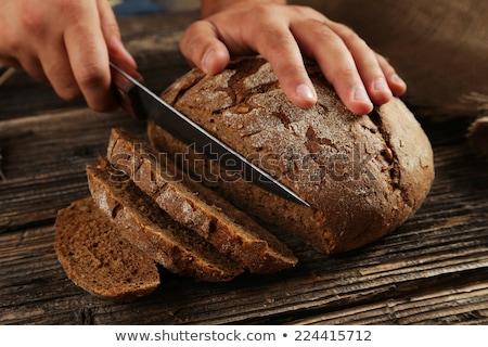 рук рожь хлеб кухне древесины Сток-фото © artjazz