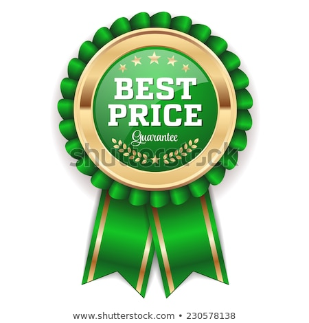 vector best choice green label with ribbons stock photo © fresh_5265954