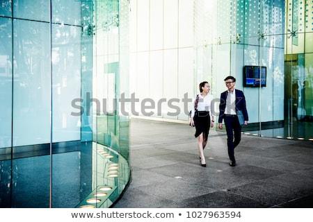 Délkelet ázsiai üzletemberek portré hideg üzletember Stock fotó © szefei