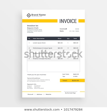 Stok fotoğraf: Vector Quotation Invoice Template Design