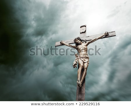 Christian cross with Jesus Christ statue Stock photo © stevanovicigor