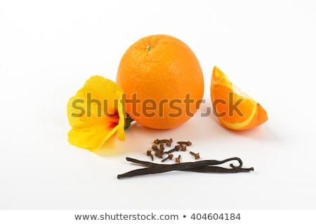 Hibiscus orange vanille fleur tranche d'orange fruits Photo stock © Digifoodstock