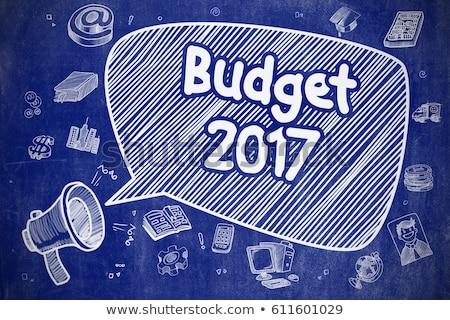Goals For 2017 - Cartoon Illustration on Blue Chalkboard. Stock photo © tashatuvango