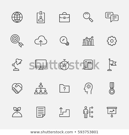 documents folder icon set with magnifying glass stock photo © andrei_