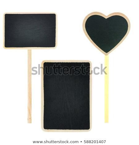 Small slate signboard Stock photo © homydesign
