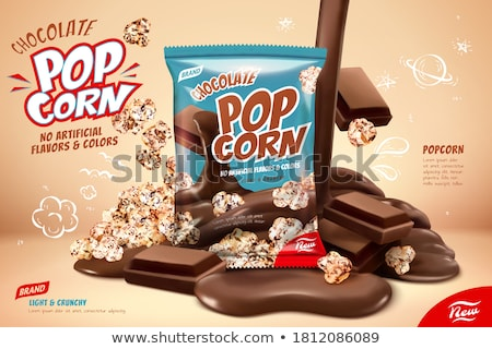 stukken · karamel · popcorn · witte · mais · dessert - stockfoto © digifoodstock